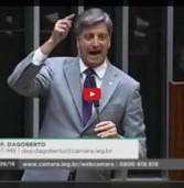 Deputado Dagoberto vota a  favor da cassação de Cunha na Câmara