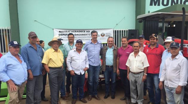 Deputado Dagoberto Nogueira entrega emendas nos municípios de Naviraí e Itaporã